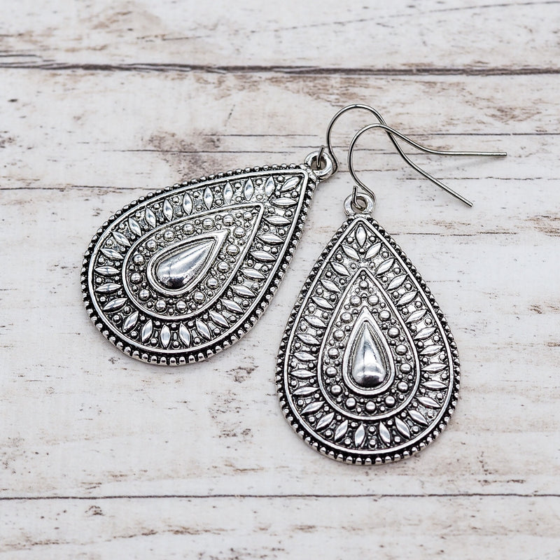 Bohemian Tear Drop Earrings