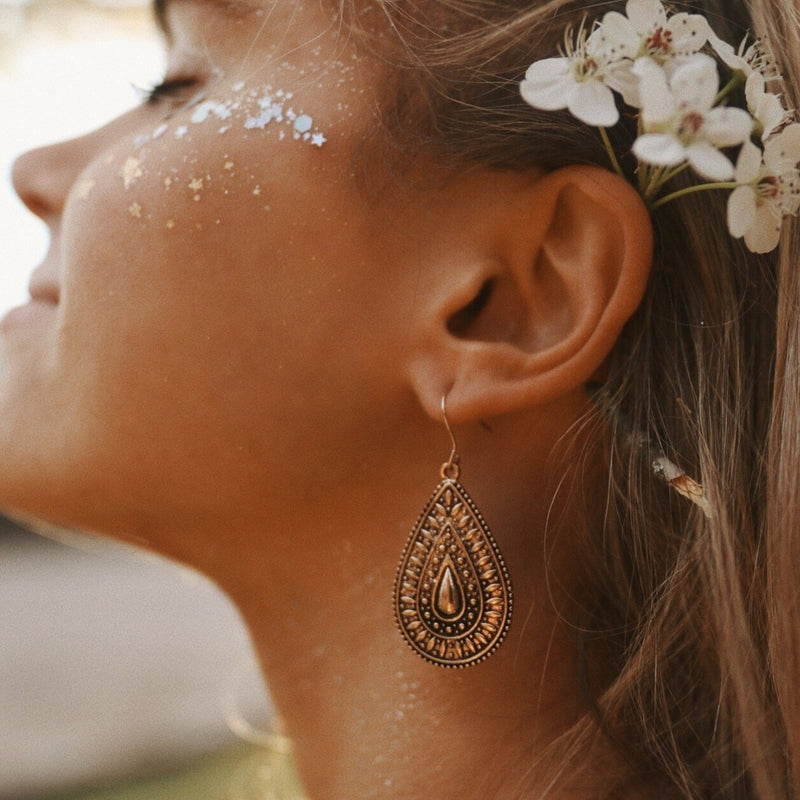 Bohemian Tear Drop Earrings. Bohemian Jewellery. Indie and Harper