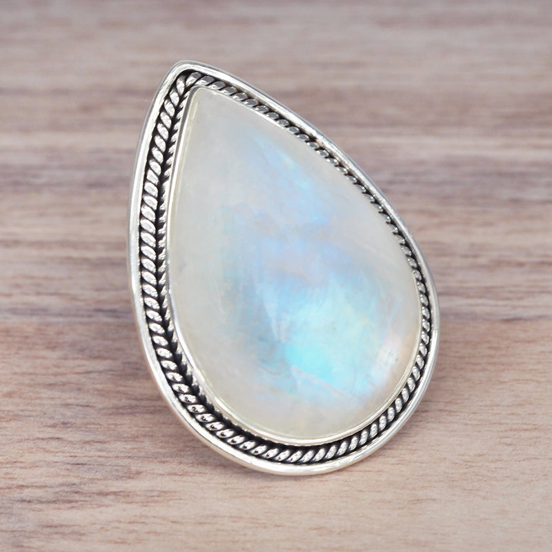 Celestial Moonstone Ring. Bohemian Jewellery. Indie and Harper