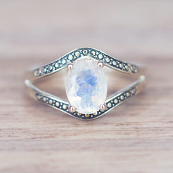 Classic Oval Moonstone Ring - Women's Jewellery - Indie and Harper