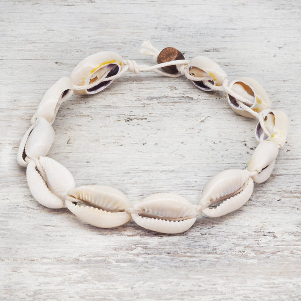 Cowrie Sea Shell Anklet. Bohemian Jewellery. Indie and Harper
