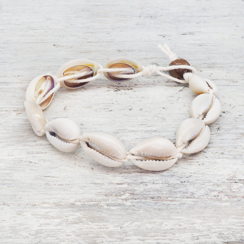 Cowrie Sea Shell Bracelet Bohemian Jewellery. Indie and Harper
