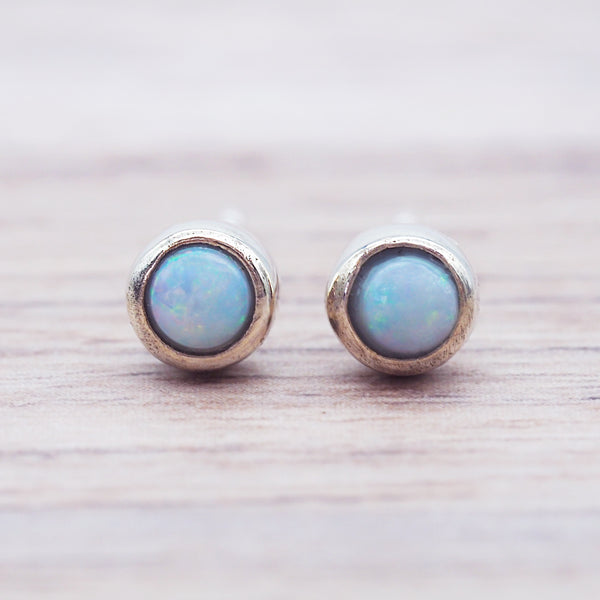 Dainty Australian Opal Earrings
