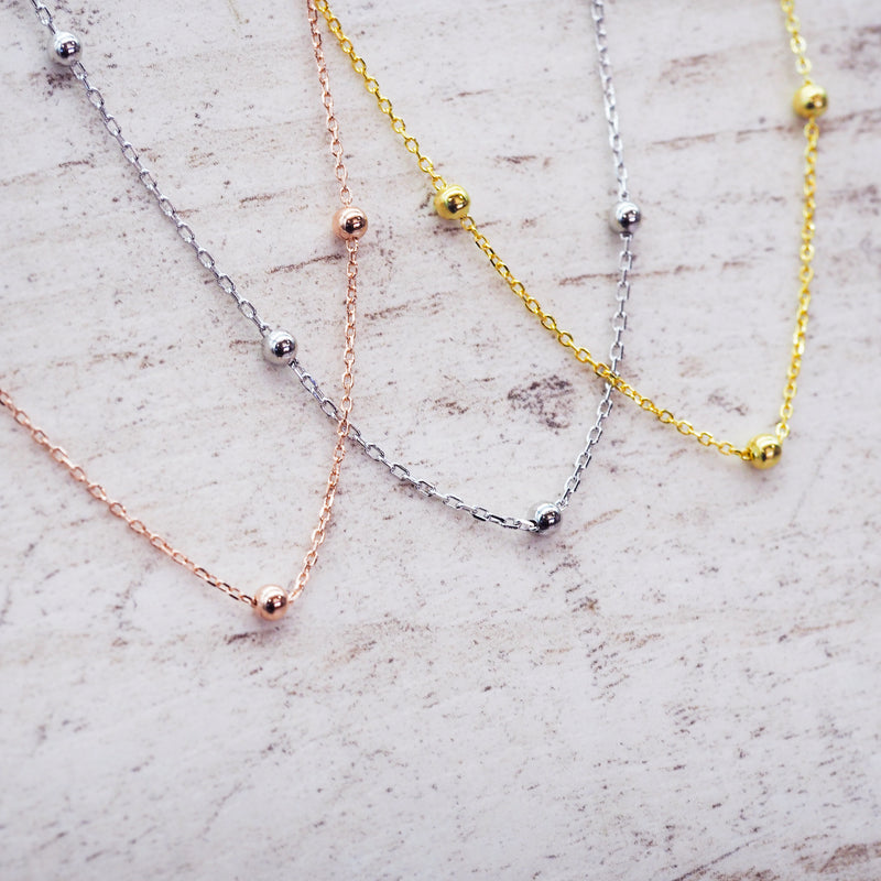 Dainty Beaded Necklace - Women's Jewellery - Indie and Harper