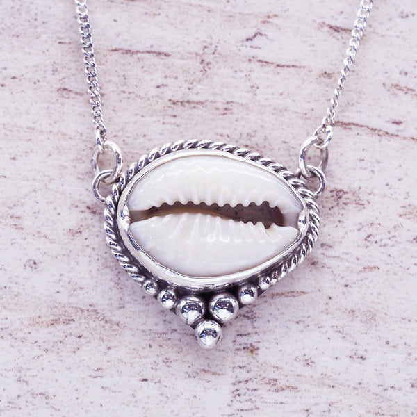 Dainty Cowrie Shell Necklace - Women's Jewellery - Indie and Harper