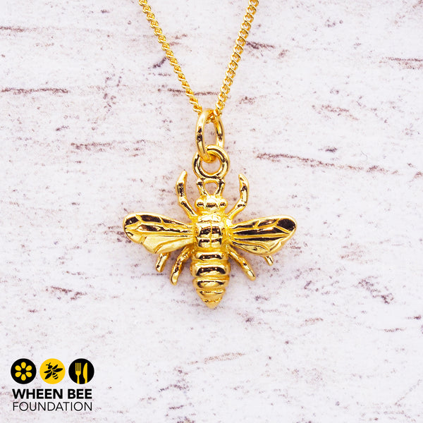 Dainty Gold Bee Pendant