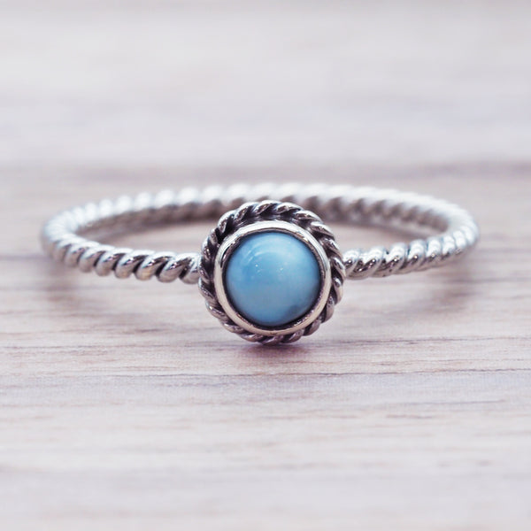 Dainty Larimar Ring - Women's Jewellery - Indie and Harper