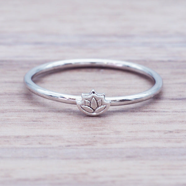 Dainty Lotus Flower Ring - Women's Jewellery - Indie and Harper
