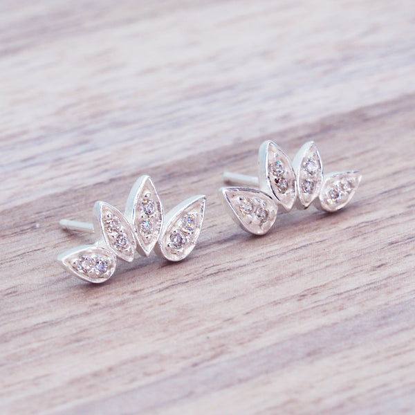 Dainty Petal Earrings - Women's Jewellery - Indie and Harper