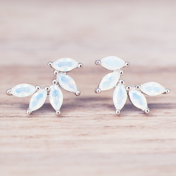 Dainty Petal Studs - Women's Jewellery - Indie and Harper