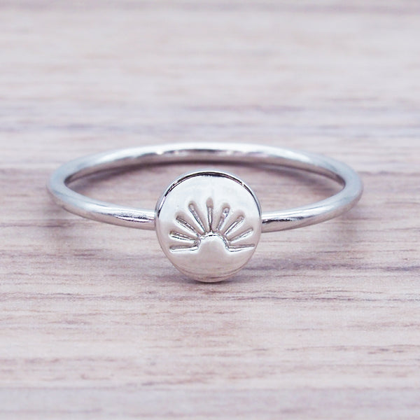 Dainty Rising Sun Ring - Women's Jewellery - Indie and Harper