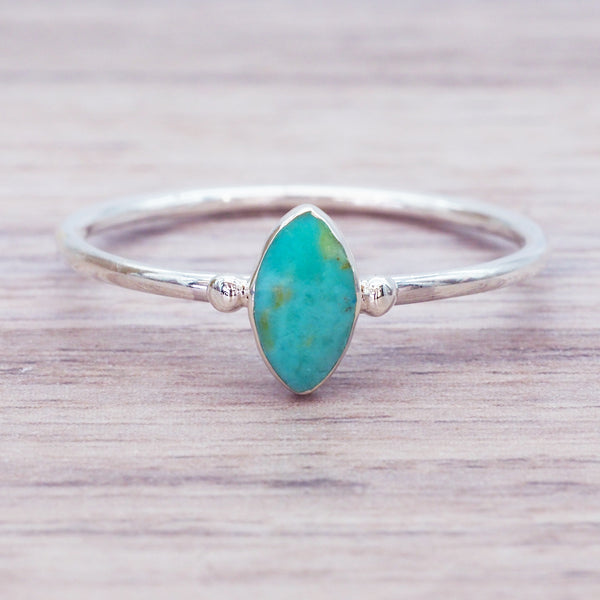 Dainty Turquoise Ring - Women's Jewellery - Indie and Harper