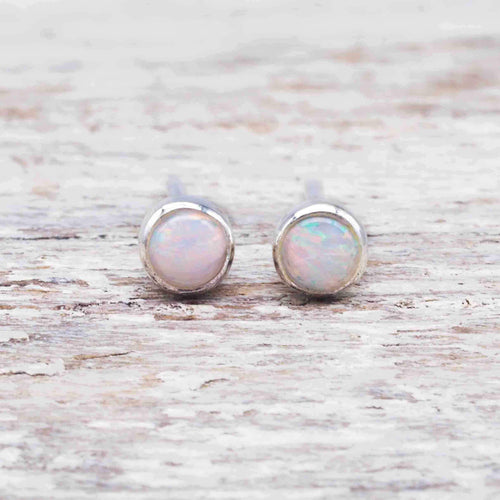Dainty Australian Opal Earrings. Bohemian Gypsy Festival Jewellery. Indie and Harper