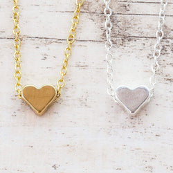 Dainty Heart Necklace - Indie and Harper. Bohemian Gypsy Festival Jewellery. www.indieandharper.com