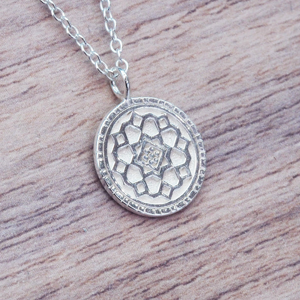 Dainty Mandala Necklace. Bohemian Jewellery. Indie and Harper