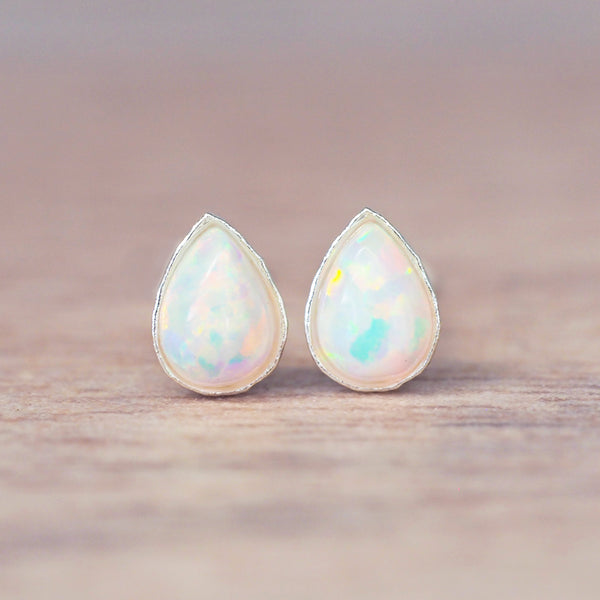 Dainty Opal Droplet Earrings. Bohemian Jewellery. Indie and Harper