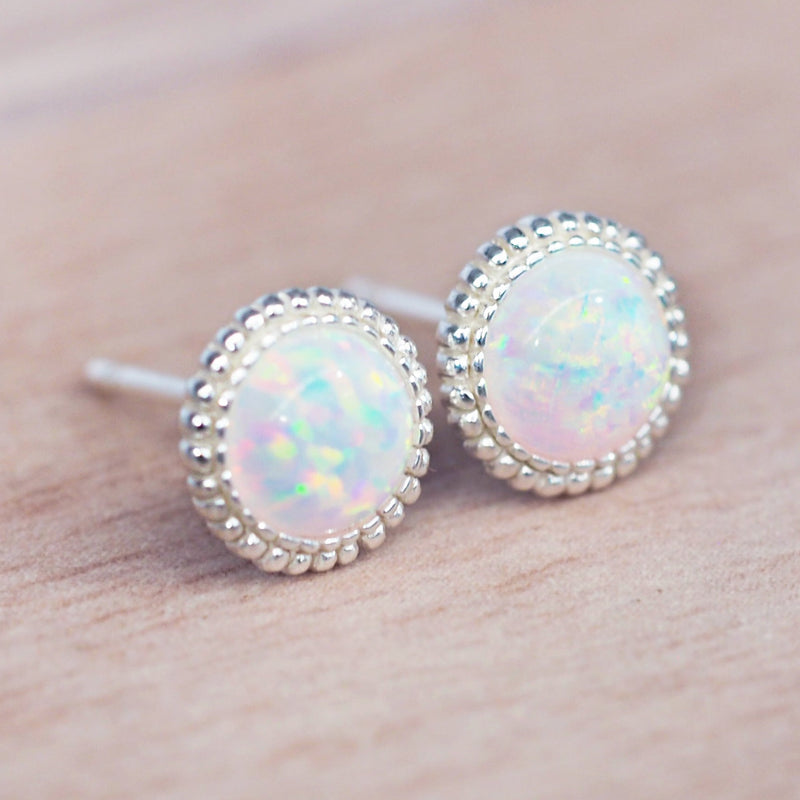 Daisy Opal Earrings - Women's Jewellery - Indie and Harper