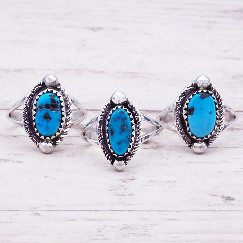 Detailed Raw Turquoise Ring - Women's Jewellery - Indie and Harper