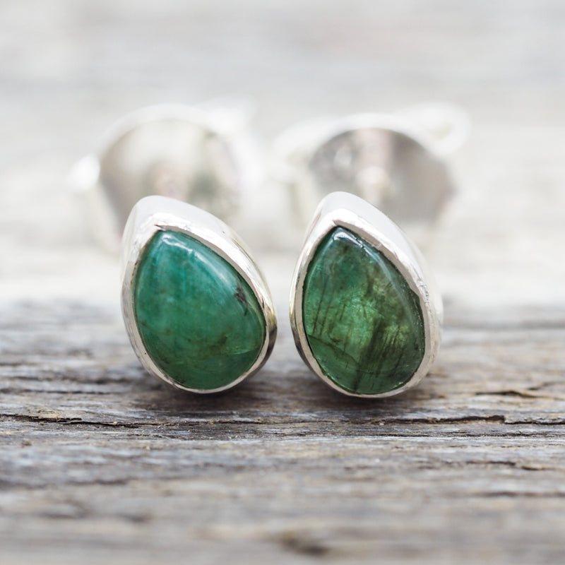 Emerald Earrings. Bohemian Jewellery. Indie and Harper