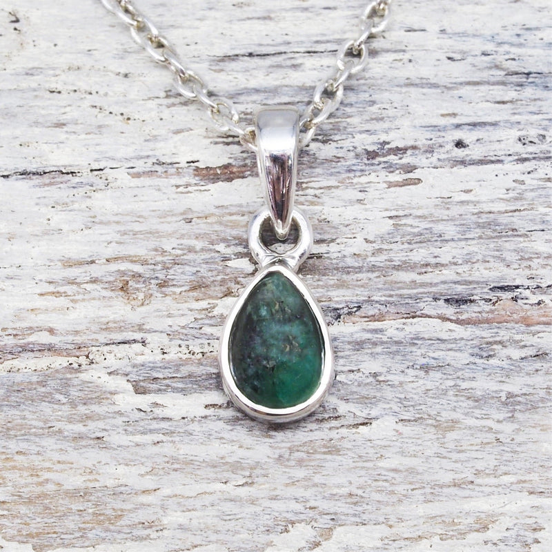 Emerald Pendant Necklace. Bohemian Jewellery. Indie and Harper