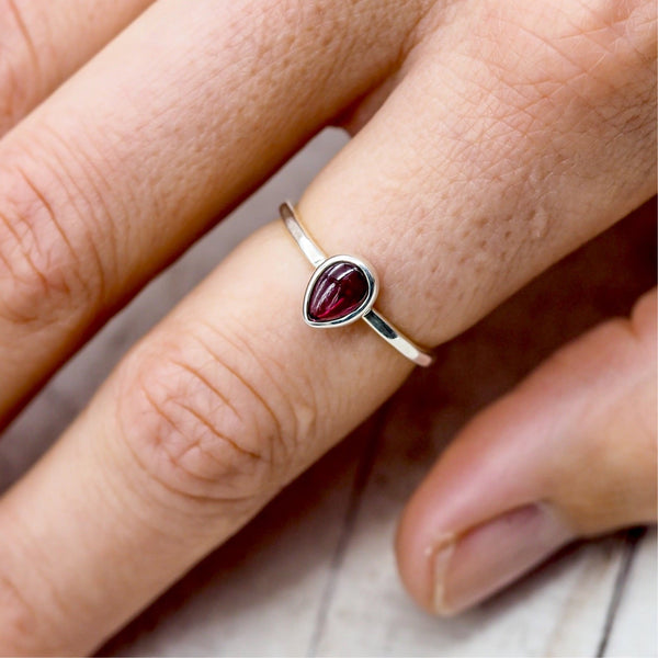 Garnet Ring. Bohemian Jewellery. Indie and Harper