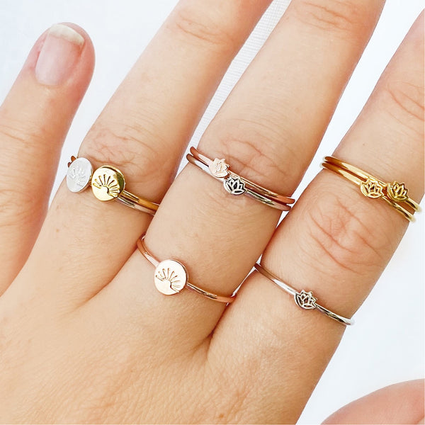 Gold Dainty Rising Sun Ring - Women's Jewellery - Indie and Harper