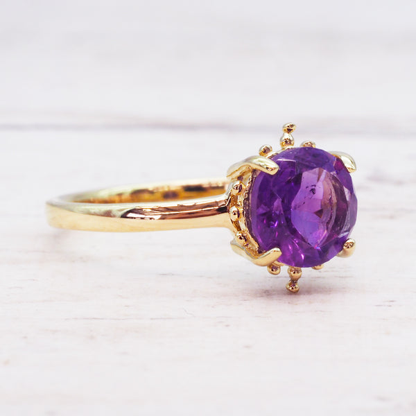Gold Amethyst Ring - Women's Jewellery - Indie and Harper