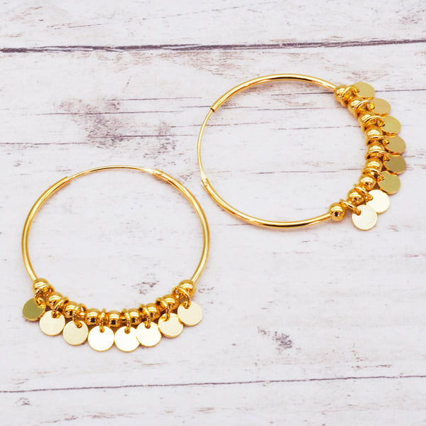 Gold Celestial Hoops - Women's Jewellery - Indie and Harper