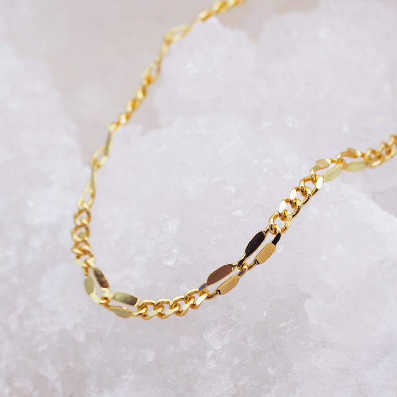 Gold Classic Chain Anklet - Women's Jewellery - Indie and Harper