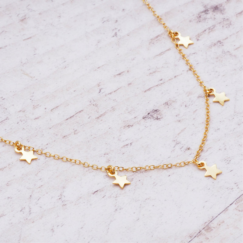 Gold Dainty Star Necklace - Women's Jewellery - Indie and Harper