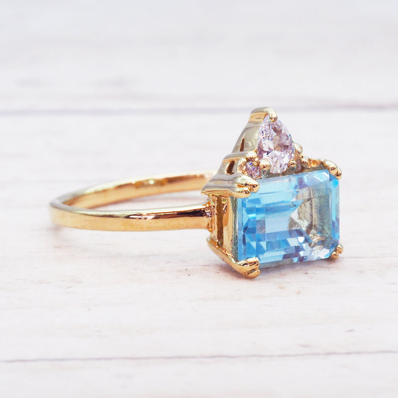 Gold Elegant Topaz Ring - Women's Jewellery - Indie and Harper