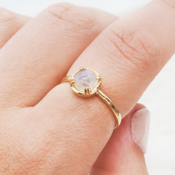 Gold Moonstone Ring - Women's Jewellery - Indie and Harper