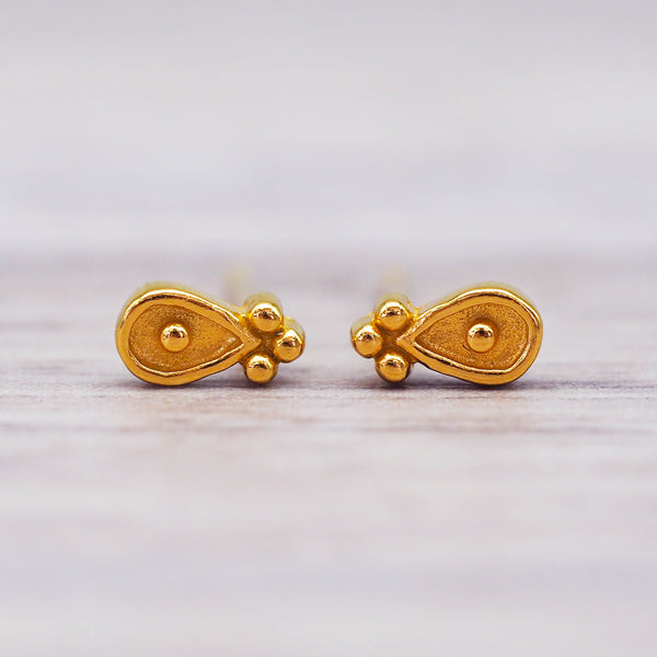 Gold Water Lily Earrings. Women's Jewellery. Indie and Harper