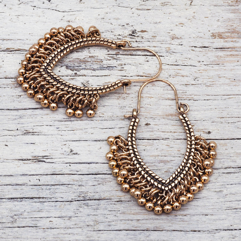 Gold Bohemian Earrings. Bohemian Jewellery. Indie and Harper