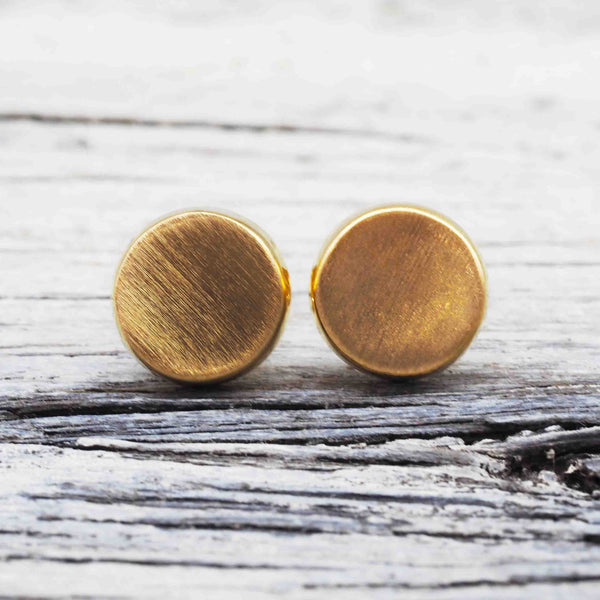 Gold Disc Earrings. Bohemian Jewellery. Indie and Harper