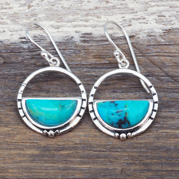Horizon Turquoise Earrings. Bohemian Jewellery. Indie and Harper
