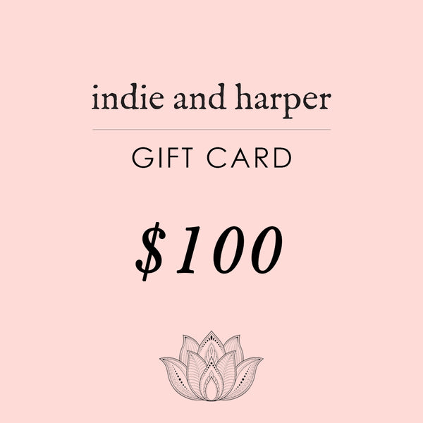 $100 Indie and Harper Gift Card - Indie and Harper. Bohemian Gypsy Festival Jewellery. www.indieandharper.com