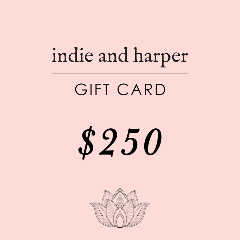$250 Indie and Harper Gift Card - Indie and Harper. Bohemian Gypsy Festival Jewellery. www.indieandharper.com