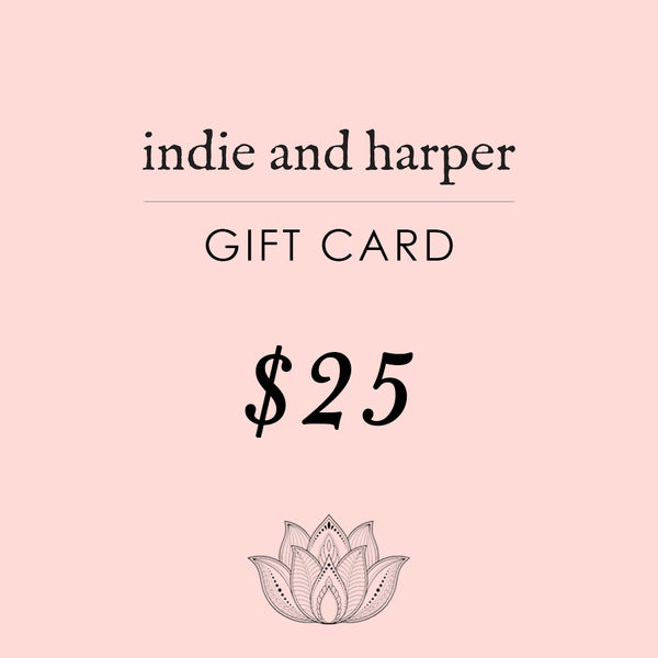 $25 Indie and Harper Gift Card - Indie and Harper. Bohemian Gypsy Festival Jewellery. www.indieandharper.com