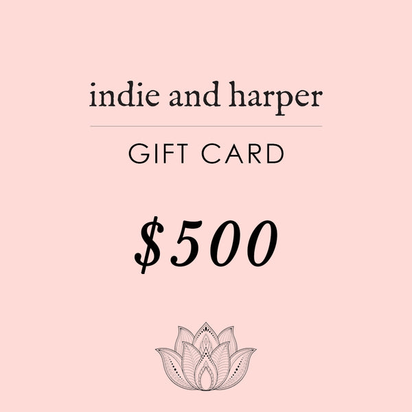 $500 Indie and Harper Gift Card - Indie and Harper. Bohemian Gypsy Festival Jewellery. www.indieandharper.com
