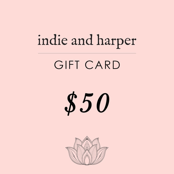 $50 Indie and Harper Gift Card - Indie and Harper. Bohemian Gypsy Festival Jewellery. www.indieandharper.com