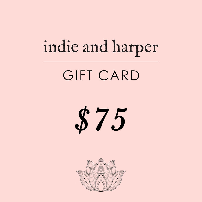 $75 Indie and Harper Gift Card - Indie and Harper. Bohemian Gypsy Festival Jewellery. www.indieandharper.com