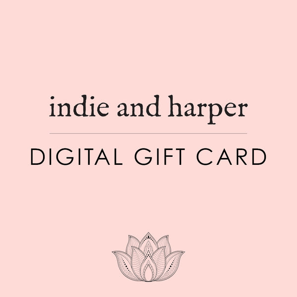 Online Virtual Gift Card - Indie and Harper. Bohemian Gypsy Festival Jewellery. www.indieandharper.com