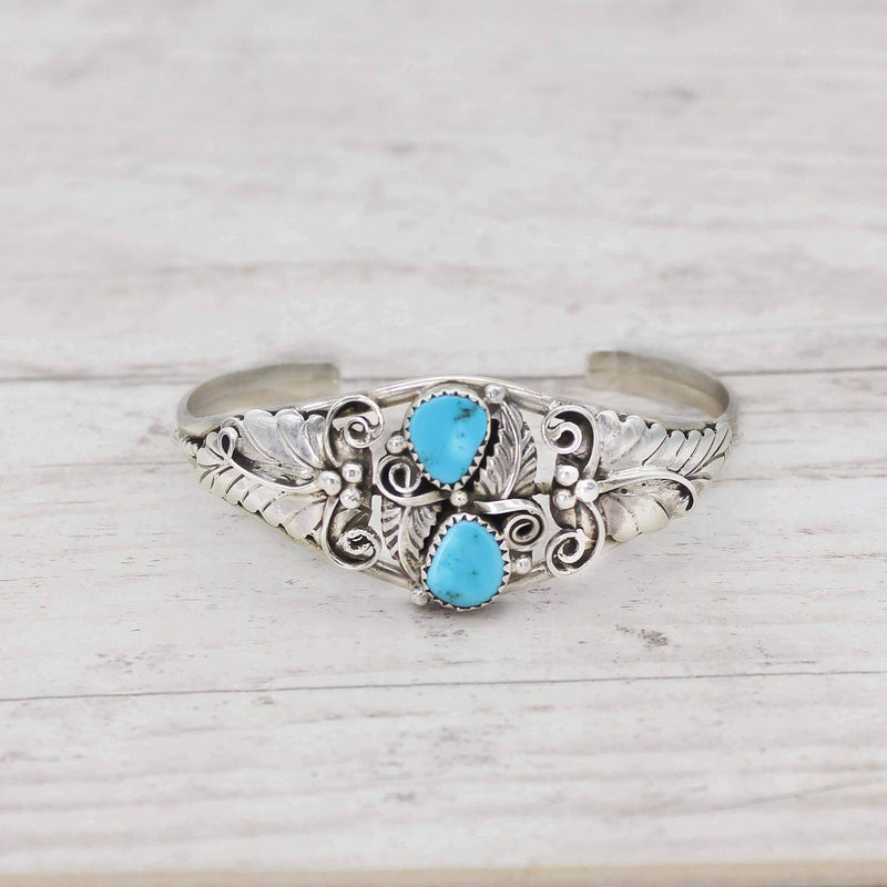Navajo Sleeping Beauty Turquoise Cuff - Indie and Harper. Bohemian Gypsy Festival Jewellery. www.indieandharper.com