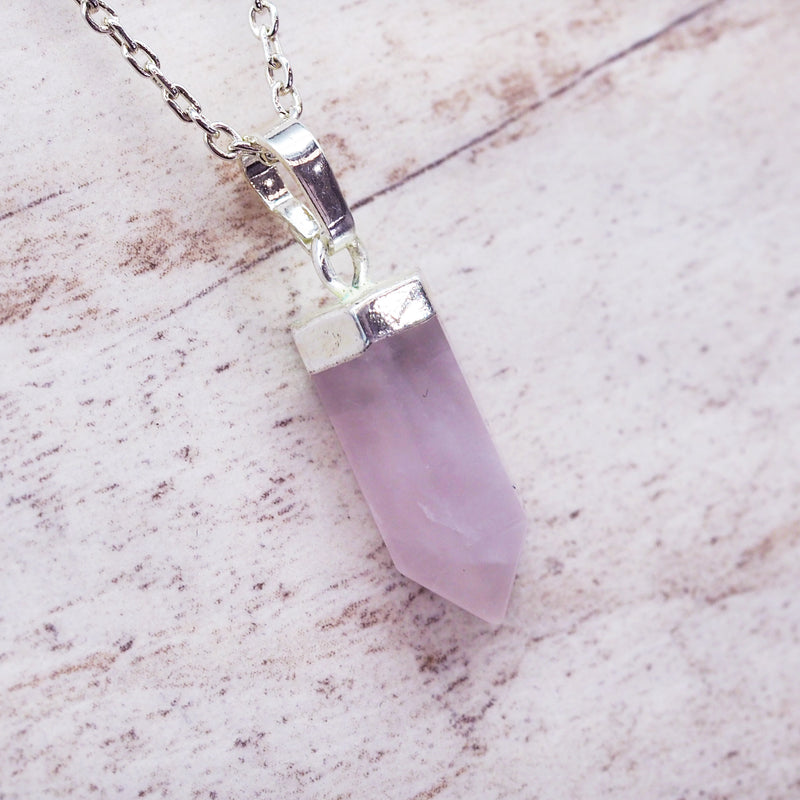 Kids Rose Quartz Pendant Necklace. Bohemian Jewellery. Indie and Harper
