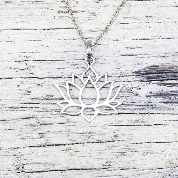 Lotus Flower Necklace. Bohemian Jewellery. Indie and Harper