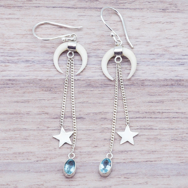 Luna Topaz Drop Earrings - Women's Jewellery - Indie and Harper