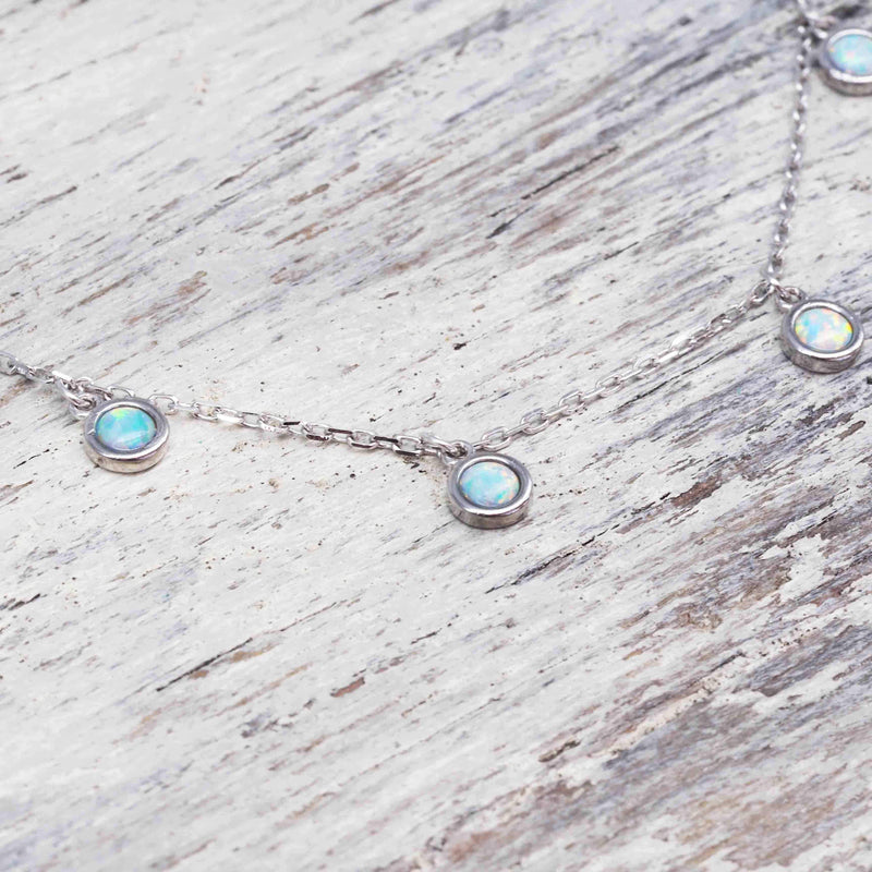 Moonlight Opal Necklace. Bohemian Gypsy Festival Jewellery. Indie and Harper