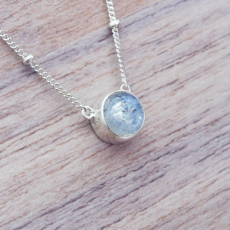 Moonstone Beaded Pendant Necklace - Women's Jewellery - Indie and Harper