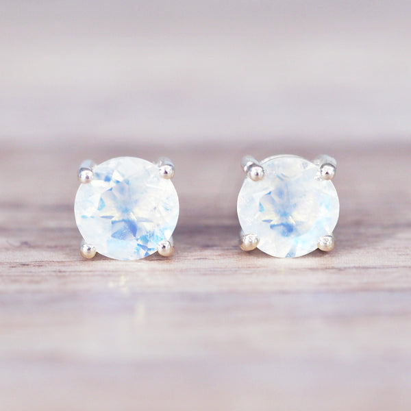 Moonstone Earrings - Women's Jewellery - Indie and Harper